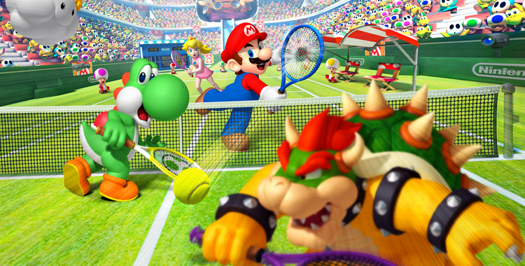 Mario Tennis Open (3DS) - sticky