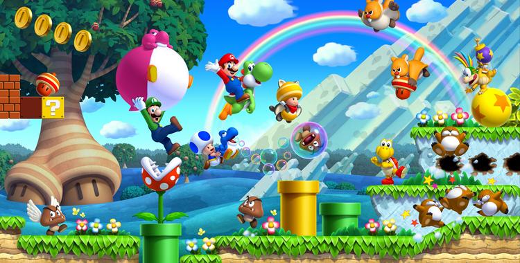 New Super Mario Bros. U (Wii U) - sticky
