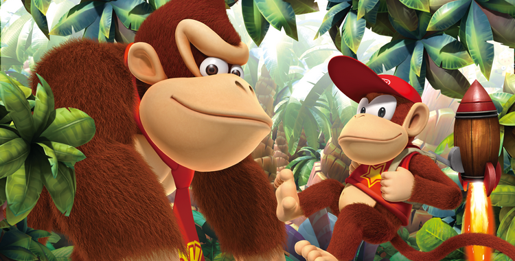 Donkey Kong Country Returns 3D (3DS) - sticky