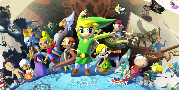 The Legend of Zelda The Wind Waker HD (Wii U) - sticky