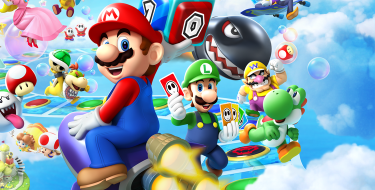 Mario Party Island Tour (3DS) - sticky