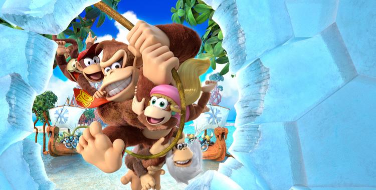 Donkey Kong Country Tropical Freeze (Wii U) - sticky