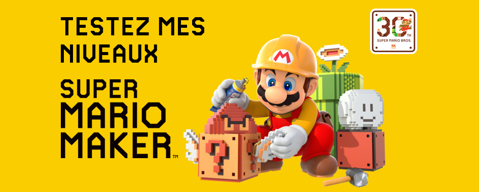 Super Mario Maker (Wii U) - niveaux - sticky